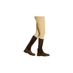 Photo of Harry Hall Suede Half Chaps - Brown Medium Sports and Health Equipment