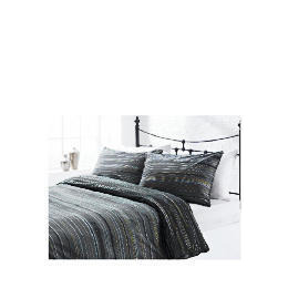 Tesco Helsinki Stripe Print Duvet Set Single, Black Reviews