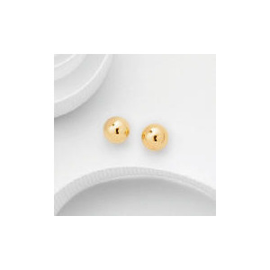Photo of 9CT Gold 7MM Ball Studs Jewellery Woman
