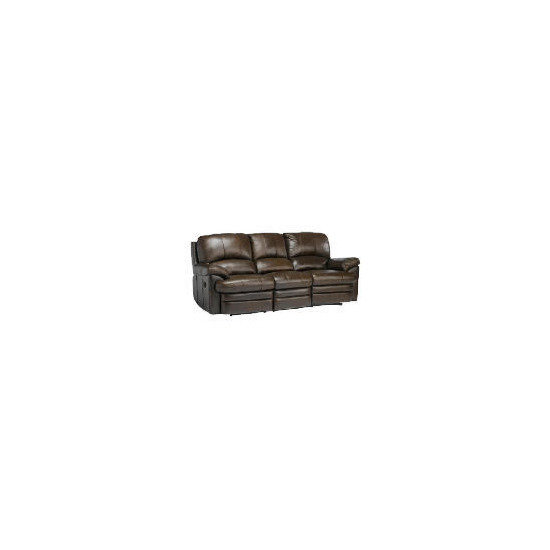 Apollo Large Leather Recliner Sofa, Brown