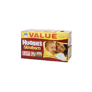 Photo of Huggies Newborn Size 2 Value Box 100 Baby Product