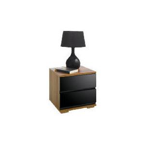 Photo of Ferrara Bedside Chest, Black & Walnut Furniture