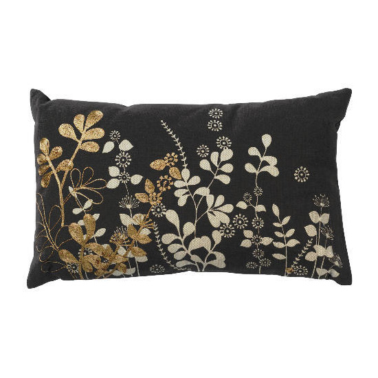 Tesco Botanical Leaf Oblong Cushion, Marisa
