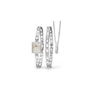 Photo of Limit Ladies Silver Watch, Bracelet and Pendant Set Jewellery Woman