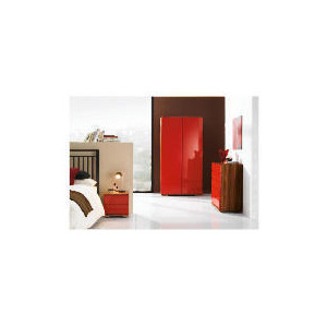 Photo of Ferrara Double Wardrobe - Red & Walnut Furniture