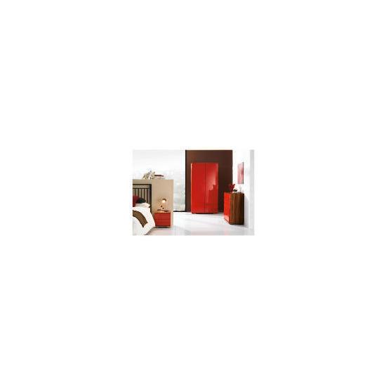 Ferrara Double Wardrobe - Red & Walnut