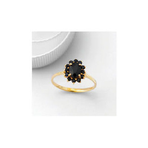 Photo of 9CT Gold Sapphire Cluster Ring, Q Jewellery Woman