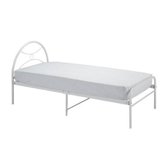 Memo Metal Bed, White