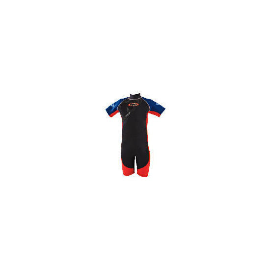 TWF Wetsuit Shortie Kids 10 Red