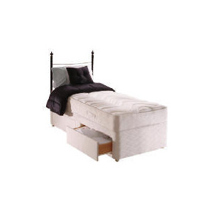 Photo of Sealy Posturepedic Silver Dream Single 2 Drawer Divan Set Bedding