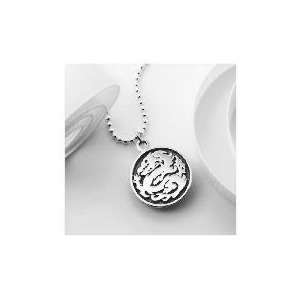 Photo of Silver Oriental Dragon Pendant Jewellery Woman