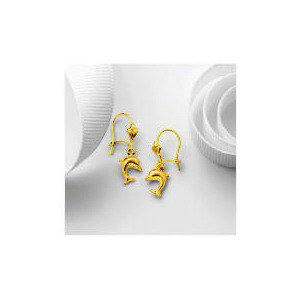 Photo of 9CT Gold Dolphin Drop Earrings Jewellery Woman