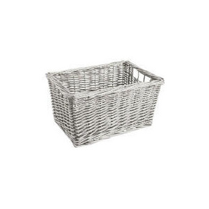 Photo of Tesco Willow Shelf Basket White Household Storage