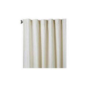 Photo of Square Jacquard Lined Pencil Pleat Cream & Natural 163X137CM Curtain