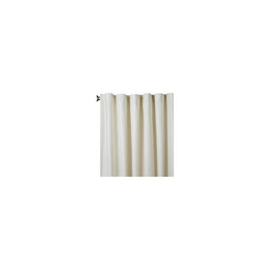 Square Jacquard Lined Pencil Pleat Cream & Natural 163x137cm