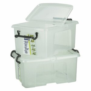 Photo of 12L Clear Boxes Household Storage