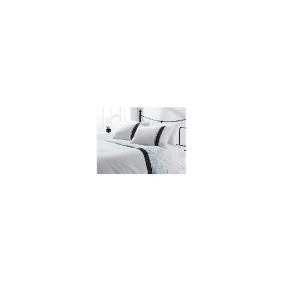 Tesco Cassie Embroidered Duvet Set Double, White