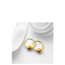 9ct Gold Hoops with Ball Detail Reviews
