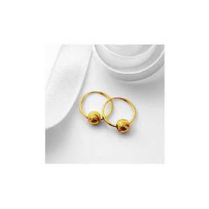 Photo of 9CT Gold Hoops With Ball Detail Jewellery Woman