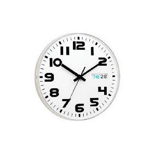 Photo of White Austin Calendar Clock Clock
