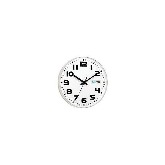 White Austin Calendar Clock