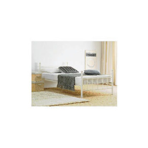 Photo of Lincoln Double Bed Frame, Cream Bedding