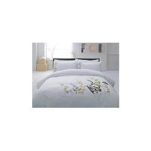 Photo of Tesco Botanical Applique Duvet Set Double, White Bed Linen
