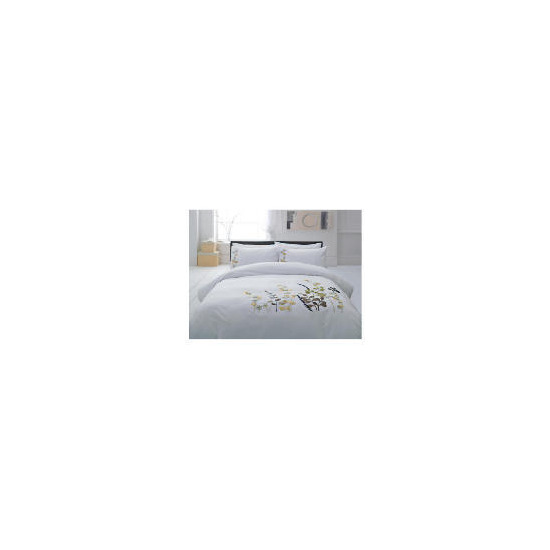 Tesco Botanical Applique Duvet Set Double, White