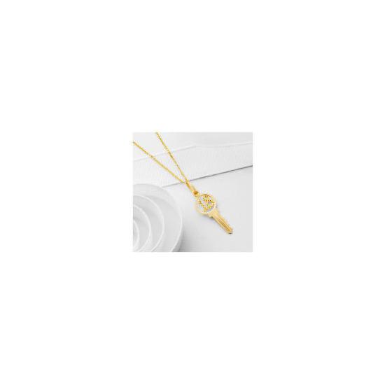 9ct Gold '18' Key Pendant