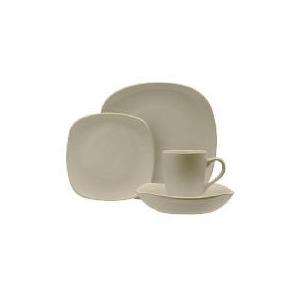 Photo of Tesco Mono Square Dinnerware Set 16 Piece, Stone Dinnerware