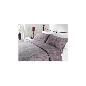 Photo of Tesco Bamboo Print Duvet Set Kingsize, Mocha Bed Linen