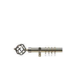 Premium Extendable Metal Pole 25-28mm 120-210cm Round Cage Final Antique Brass Reviews
