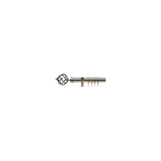 Premium Extendable Metal Pole 25-28mm 120-210cm Round Cage Final Antique Brass