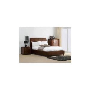 Photo of Rouen King Bed, Choc Faux Suede Bedding