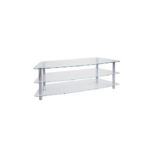 Photo of Mercury 3 Shelf Unit Clear TV Stands and Mount