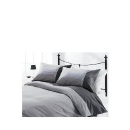 Tesco Herringbone Print Duvet Set Kingsize, Charcoal Reviews