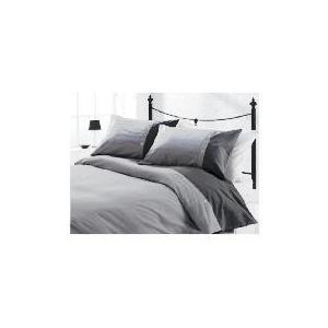 Photo of Tesco Herringbone Print Duvet Set Kingsize, Charcoal Bed Linen