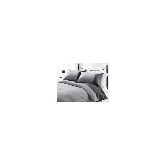 Tesco Herringbone Print Duvet Set Kingsize, Charcoal