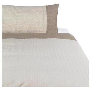 Photo of Tesco Herringbone Print Duvet Set Single, Dark Natural Bed Linen