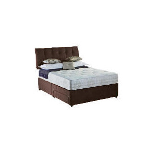 Photo of Rest Assured Choices Luxury King Storage Divan Set In Cocoa Bedding