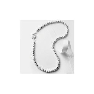 Photo of Silver 6MM Ball Necklace Jewellery Woman