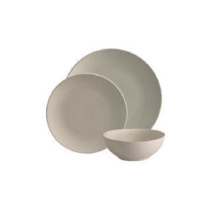 Photo of Tesco Mono 12 Piece Cream Dinnerware Set Dinnerware