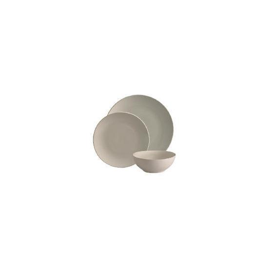 Tesco Mono 12 piece cream dinnerware Set