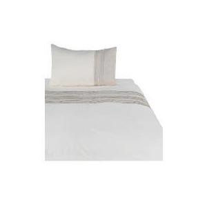 Photo of Tesco Linen Pintuck Duvet Set Single, Stone Bed Linen