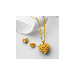 Photo of Pave My Heart Is Yours Set Jewellery Woman