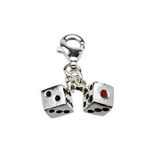 Photo of Silver Dice Charm Accessory