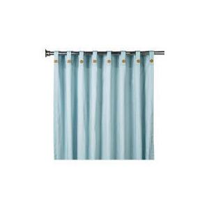 Photo of Pair Of Tesco Plain Canvas Unlined Belt Top Curtain 146X229, Duck Egg Curtain