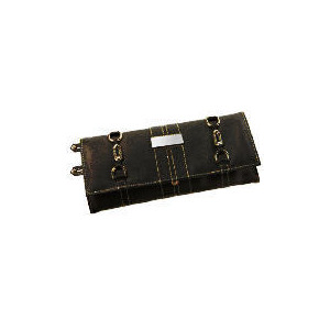 Photo of Black Leather Effect Jewellery Roll Home Miscellaneou