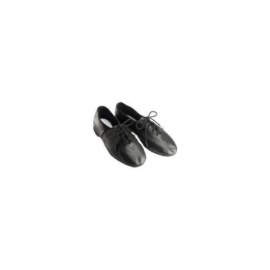 Dance Now Black Full Sole Leather Jazz Shoe  4