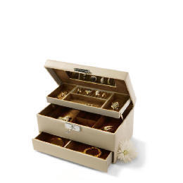 Cream Leather Effect Jewellery Box Reviews